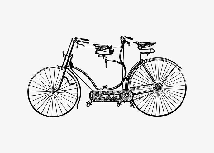 Design vintage de bicicleta em tandem vetor