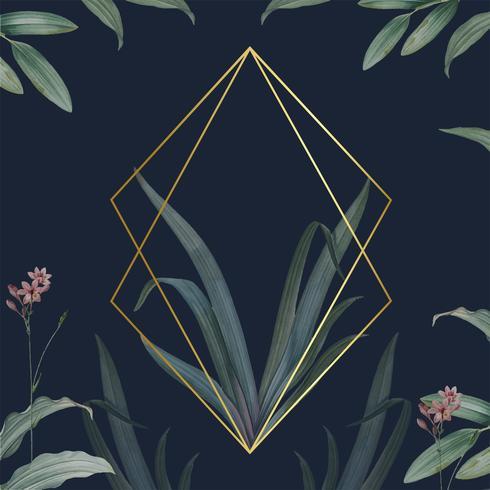 Leeg frame met groene bladeren ontwerp vector