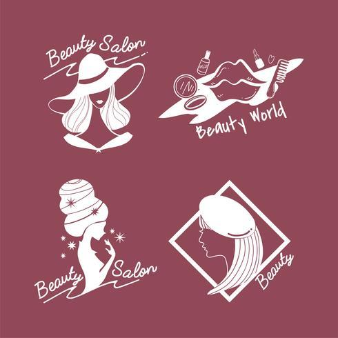 Set van schoonheid van vrouwen en stijl iconen vector