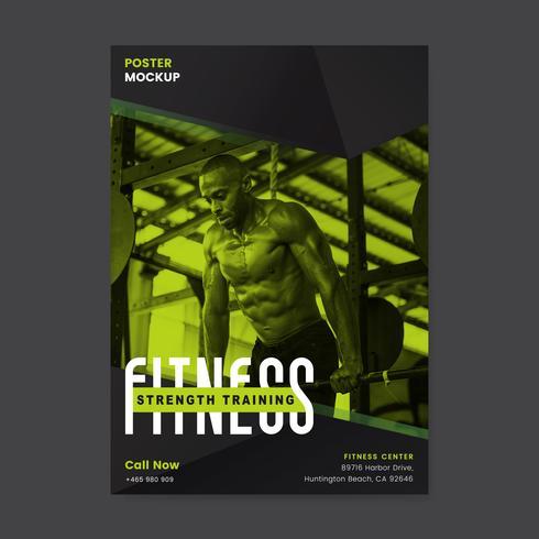 Fitness styrka träning affisch vektor