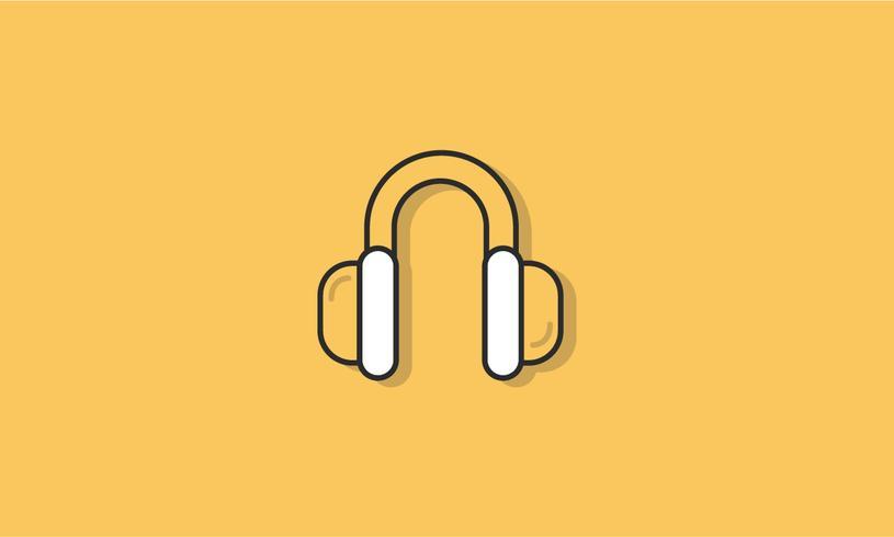 Illustration of earphones icon