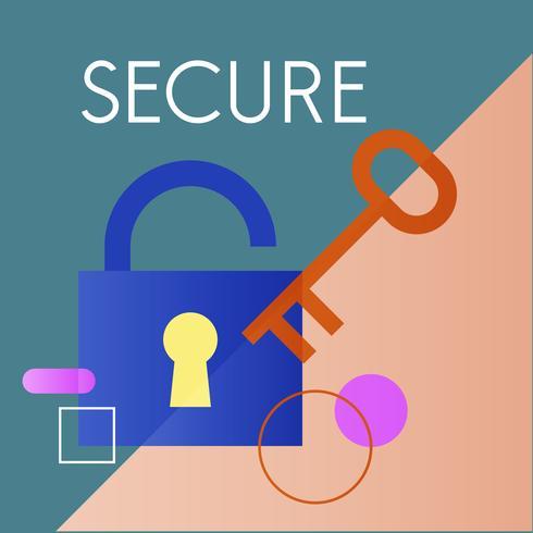 Illustratie van veiligheidsslot