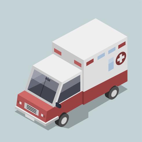Vettore dell'icona dell'ambulanza 3D