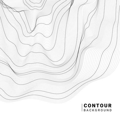 Monokrom abstrakt konturlinje illustration