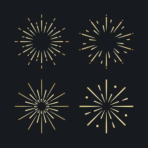 Set di vettori di esplosione di fuochi d'artificio