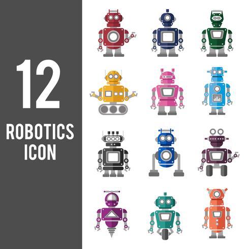 Illustratie van geplaatste robotpictogrammen