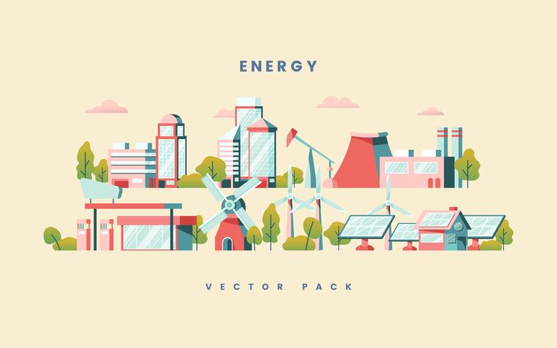 Energiebesparende concept vector in geel