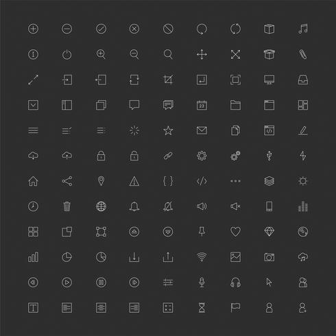 Set of computer icon vectors
