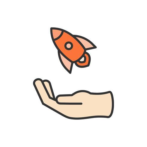 Illustration der Raumschiff-Ikone