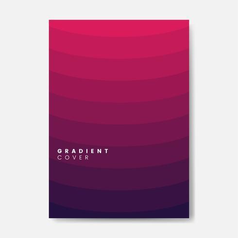Design grafico della copertina sfumata rossa