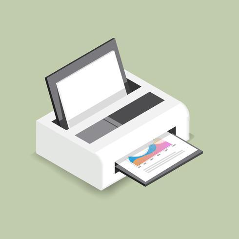 Icona di vettore della stampante