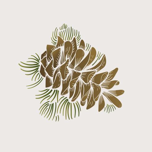 Vetorial, de, pinecone