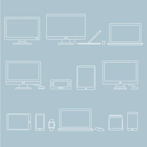 Vector conjunto de dispositivos digitales