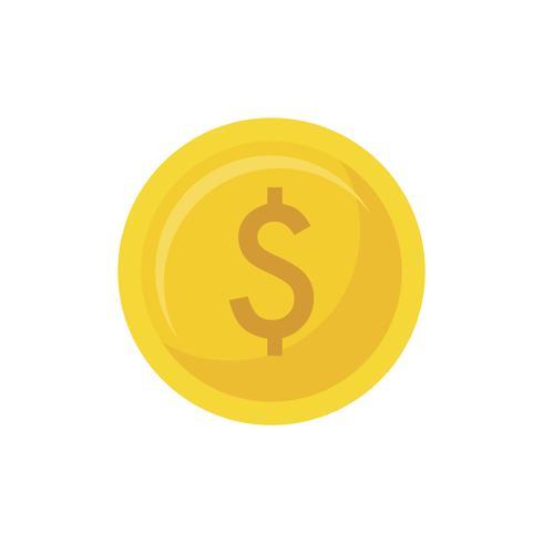 Illustratie van een gouden munt