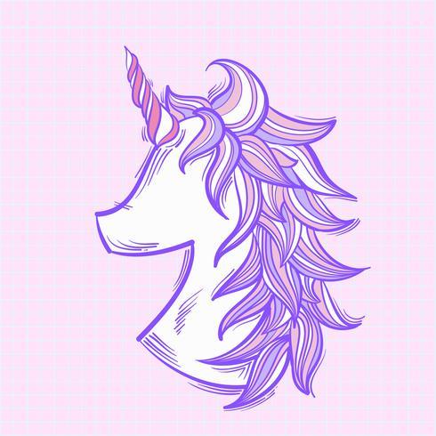 Unicornio de ilustración aislado en el fondo