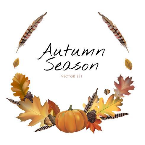 Sammlung des Herbstlaubvektors