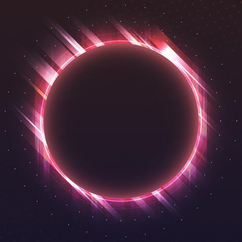 Vecteur de panneau vierge néon cercle rouge
