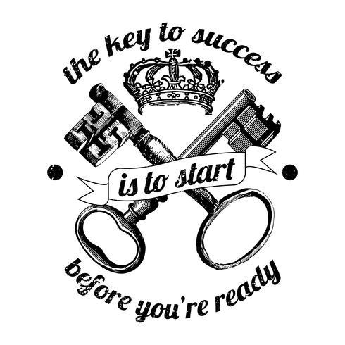Ilustración de la clave del éxito