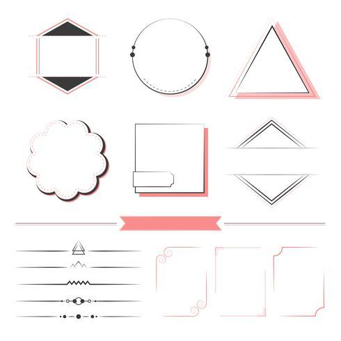 Sats med designelement vektor