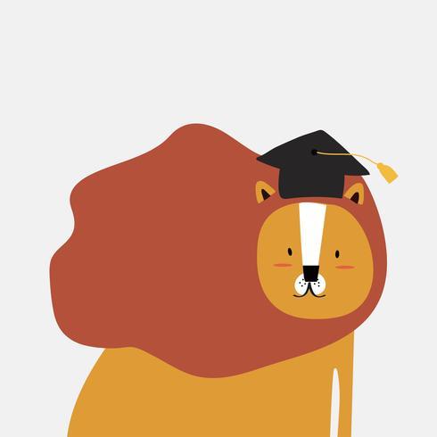 Leeuw in een cartoon-stijl vector