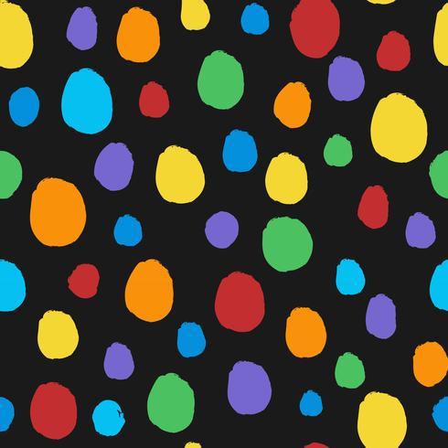 Naadloze kleurrijke stippen patroon vector
