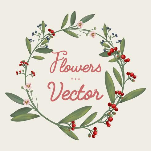Vector bellamente diseñado flores