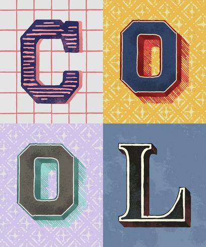 Stile di tipografia vintage parola cool