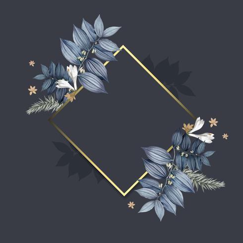 Lege floral frame ontwerp vector