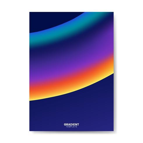 Diseño de la plantilla de papel tapiz degradado de colores
