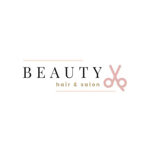 Beauty salon logo design vector