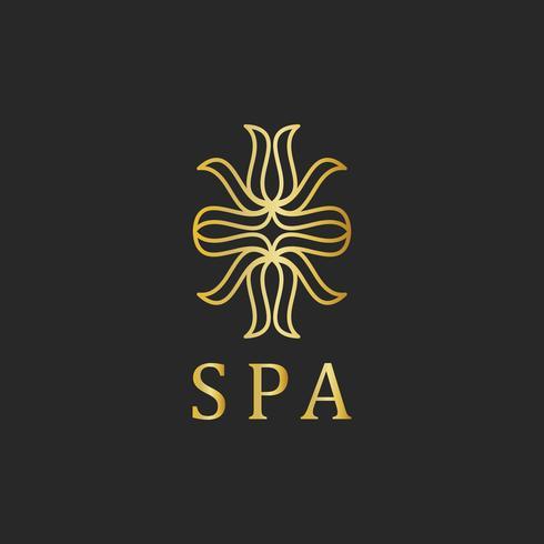 La palabra spa tipografía logo vector