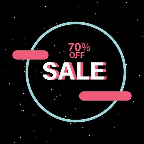 70% de desconto no vetor de crachá de venda
