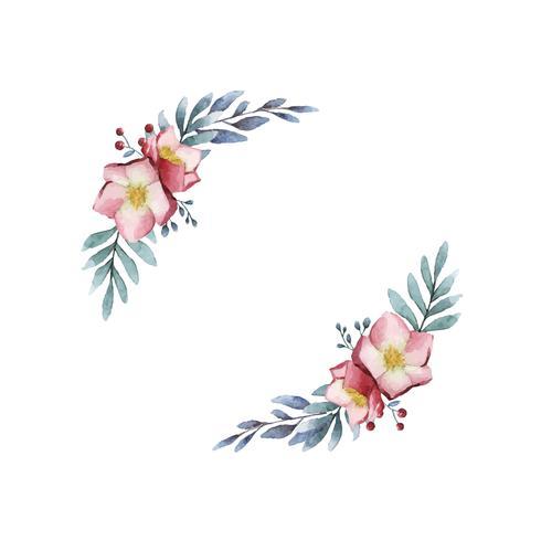 Hellebore-Blumenrahmen gemalt durch Aquarellvektor