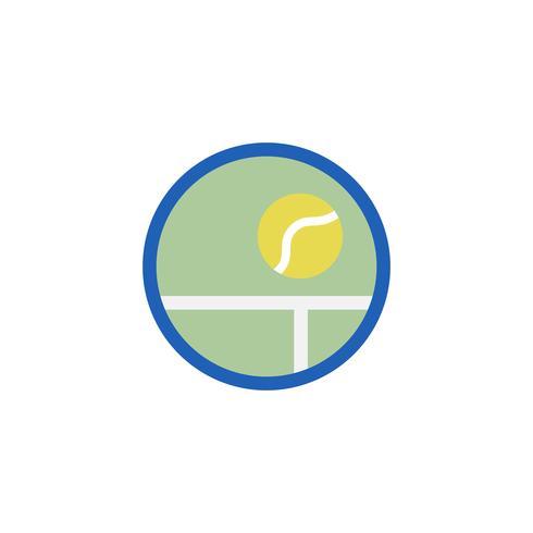 Illustrazione dell'icona della pallina da tennis