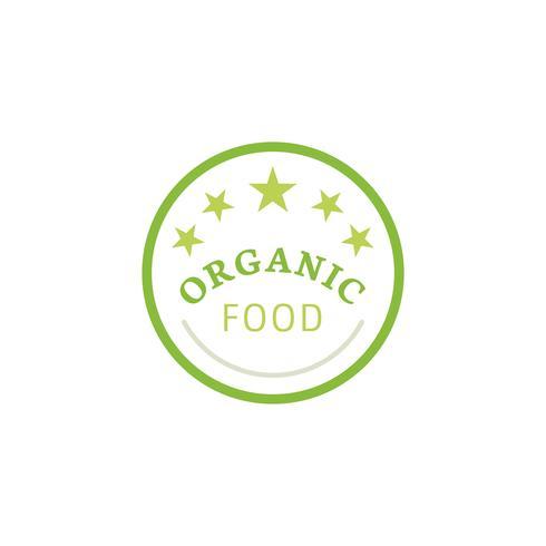 Ilustração de emblema de distintivo de alimentos orgânicos