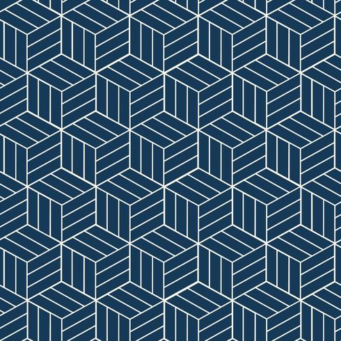 Naadloze Japans-geïnspireerde geometrische patroon vector
