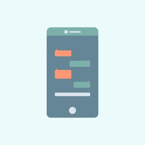 Bate-papo app gráfico no telefone celular