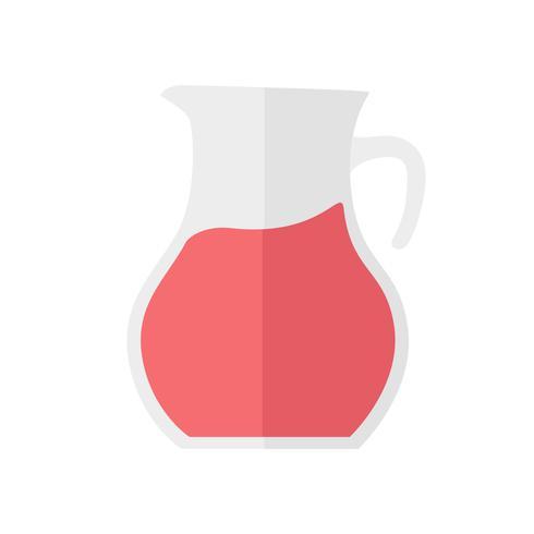 Ilustração simples de um jarro de suco