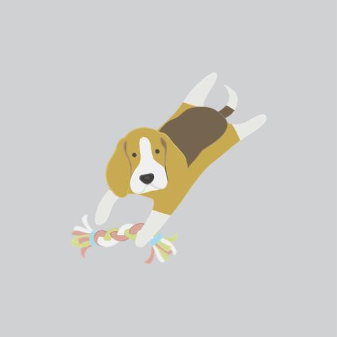 Ilustração bonita de um cachorro beagle