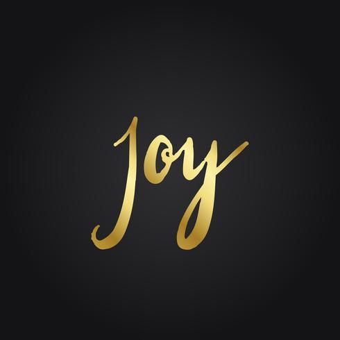 Vector de estilo de tipografía alegría y felicidad