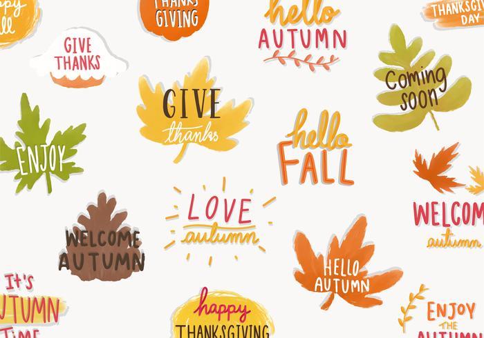 Satz von Herbst- oder Herbstabbildungen