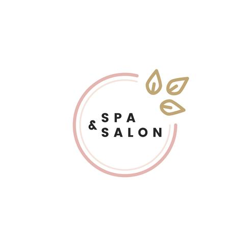 Spa en salon logo vector