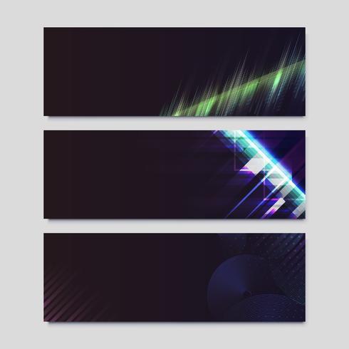 Cartazes de efeito de luz de néon