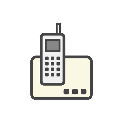 Ilustração, de, um, telefone wireless