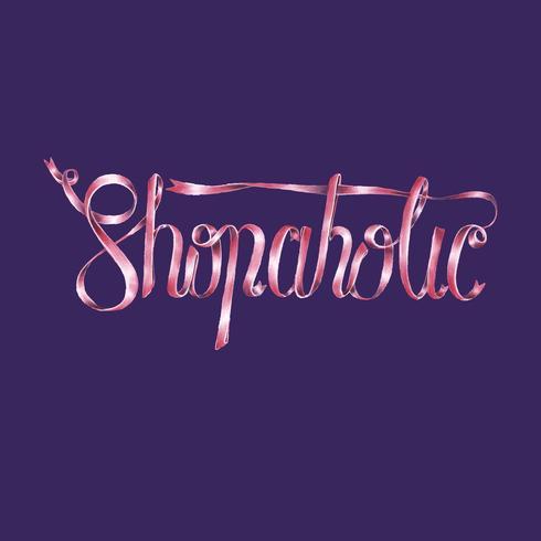 Ilustração de design de tipografia Shopaholic