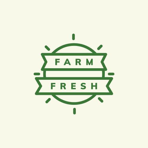 Fazenda emblema fresco emblema ilustração