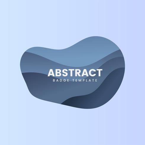 Abstract badge template in blue