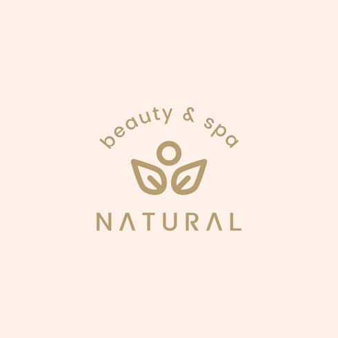 Illustration de conception de logo beauté naturelle et spa