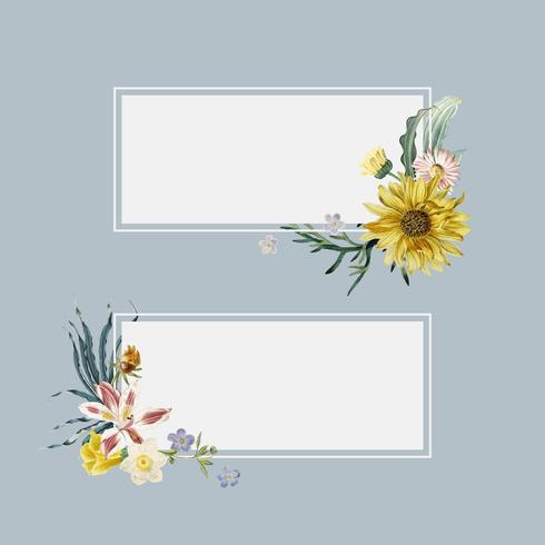 Blumensommerfahnen