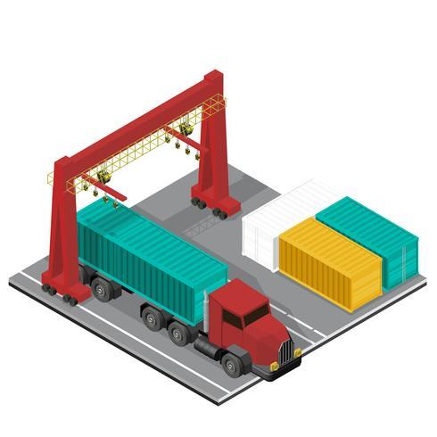 Logistik företag industri isolerad ikon på bakgrunden